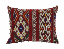 "Moroccan Cushion Vintage Kilim Stuffed  Wool  50 cm x 38 cm / 20"" x 15"" (VC306)"